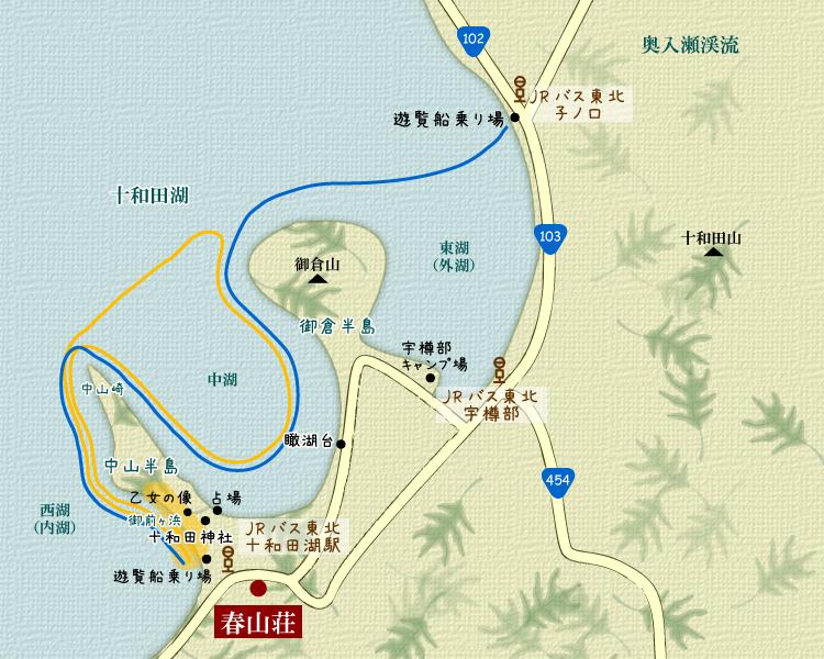 十和田湖周辺地図