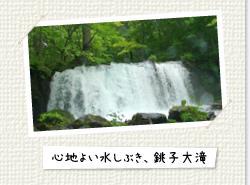 心地良い水しぶき、銚子大滝