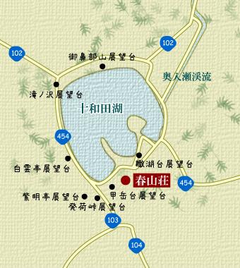 十和田湖を囲む展望台